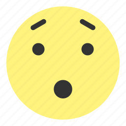 emoji, eye, face, hovytech, oohh, really, smile icon