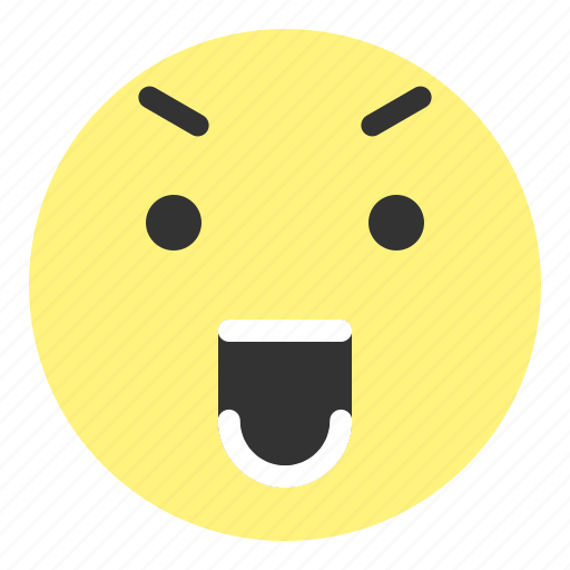 emoji, eye, face, hovytech, shout, smile, teeth icon
