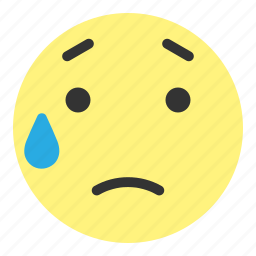 emoji, face, hovytech, sad, stress, unhappy, water icon
