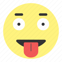 crazy, emoji, face, happy, hovytech, out, tongue icon