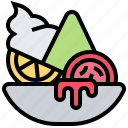 cream, delicious, fresh, fruit, salad icon