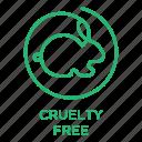 cruelty free stamp, no animal testing, not tested on animals, vegan, vegetarian icon