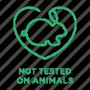 cruelty free, no animal testing, not tested on animals, rabbit, vegan icon