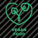cruelty free, natural ingredients, organic food, vegan, vegan food icon