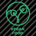 diet, natural, vegan, vegan food, vegetarian icon