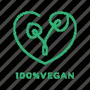 natural, organic, vegan, vegetarian icon