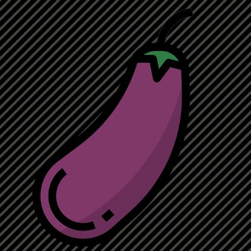 aubergine, gourmet icon