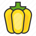 bell pepper, food, healthy, vegan, vegetable icon