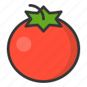 food, healthy, tomato, vegan, vegetable icon