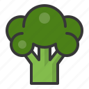 broccoli, food, healthy, vegan, vegetable icon