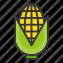 corn, food, healthy, vegan, vegetable icon