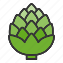 artichoke, food, healthy, vegan, vegetable icon