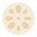 food, healthy, lotus root, vegan, vegetable icon