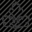 coriander, food, healthy, vegan, vegetable icon