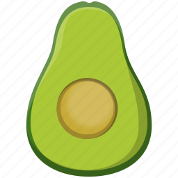 avocado, cooking, food, green icon