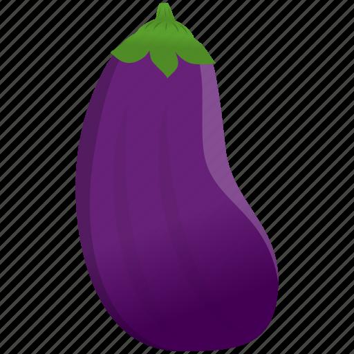 aubergine, cooking, food, purple icon