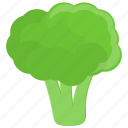 broccoli, cooking, food, green icon