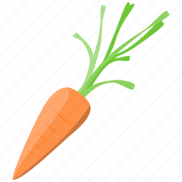 carrot, cooking, food, orange, vegetable icon