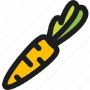 carrot, food, healthy, organic, root, vegetable, vegetables icon