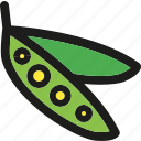 food, healthy, organic, pea, peas, vegetable, vegetables icon