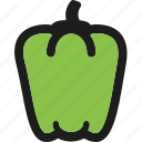 food, healthy, organic, pepper, sweet, vegetable, vegetables icon