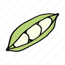 bean, cook, food, green bean, ingredient, vegetable, veggie icon