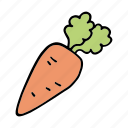 bunny, carrot, cook, food, ingredient, vegetable, veggie icon