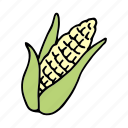 cook, corn, food, ingredient, maize, vegetable, veggie icon