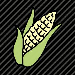cook, corn, food, ingredient, maize, vegetable, veggie icon