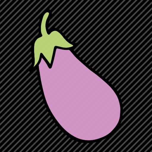 aubergine, cook, eggplant, food, ingredient, vegetable, veggie icon