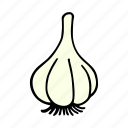 cook, food, garlic, greens, ingredient, vegetable, veggie icon
