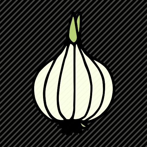 cook, food, greens, ingredient, onion, vegetable, veggie icon