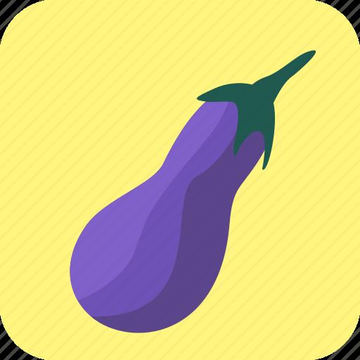 eggplant, food, guinea, melongene, squash, vegetable icon