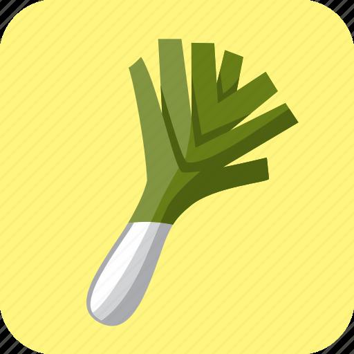 food, leek, onion, spring, vegetable icon