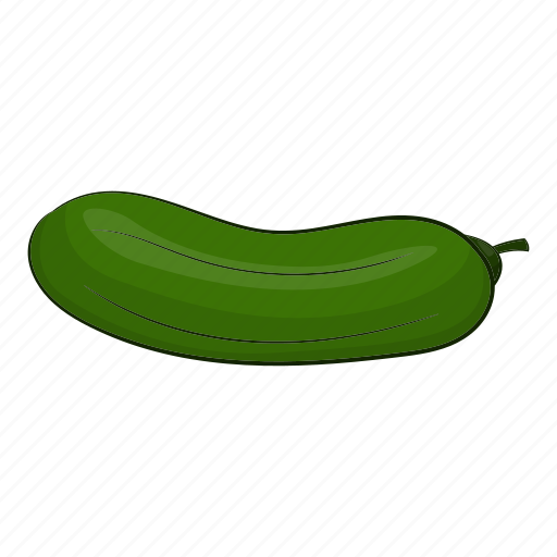 cartoon, cucumber, diet, green, piece, salad, white icon
