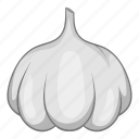 allium, bulb, cartoon, food, garlic, line, sativum icon