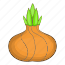 cartoon, food, natural, onion, ripe, vegetarian, white icon
