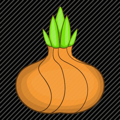 cartoon, food, natural, onion, ripe, vegetarian, white icon