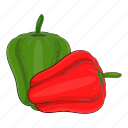 cartoon, food, paprika, pepper, tasty, vegetarian icon