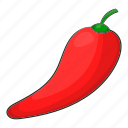 cartoon, chili, chilli, food, pepper, realistic, white icon
