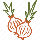 onion, onion salad, vegetables icon icon