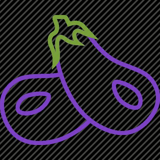 aubergine, eggplant, vegetables icon icon