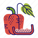 food, greens, pepper, raw food, vegetables, veggie icon