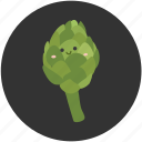 artichoke, eating, food, ingredient, leaf, organic, vegetable icon