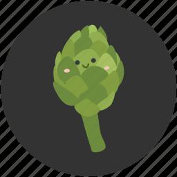 artichoke, eating, food, ingredient, leaf, organic, vegetable icon