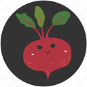 beetroot, cartoon, food, ingredient, vegetable, vegetarian, yummy icon