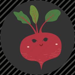 beetroot, cartoon, food, ingredient, vegetable, vegetarian, yummy icon