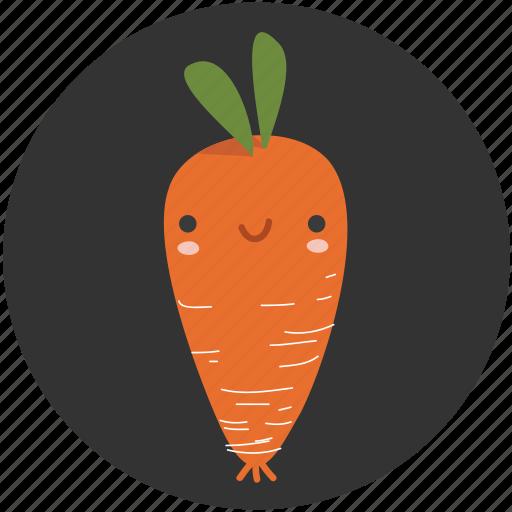Carrot Cartoon Clean Food Ingredient Vegetable Vegetarian