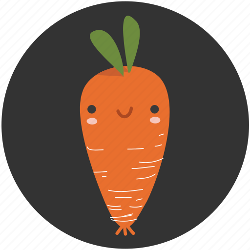carrot, cartoon, clean food, ingredient, vegetable, vegetarian, yummy icon