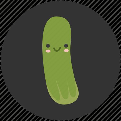 cartoon, crisp, cucumber, ingredient, salad, vegetable, vegetarian icon